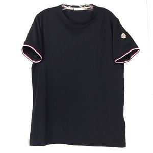 MONCLER NEW Navy Maglia Slim Fit Tee Shirt Size L